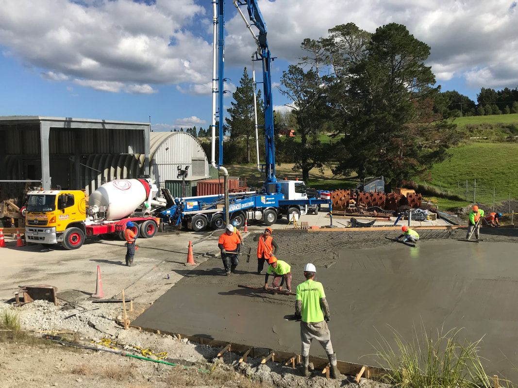 Commercial site concrete pumping works