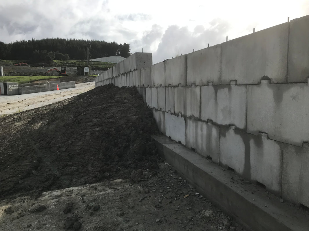 Block wall footings and placement/complete contract works